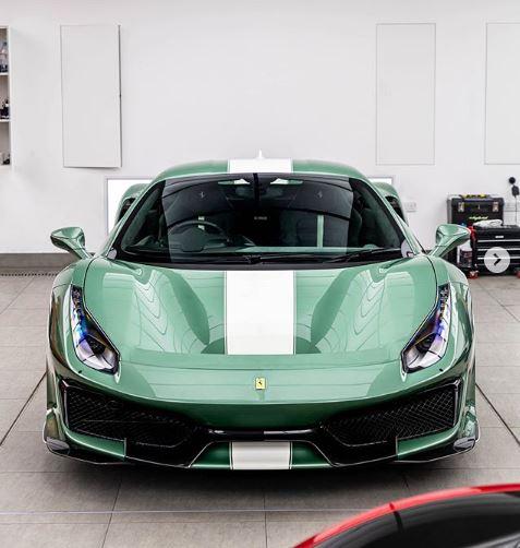 Verde Francesca Ferrari 488 Pista展示全新颜色