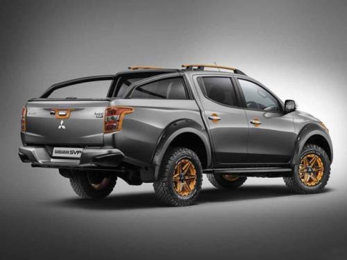 三菱在曼谷国际车展上采用了名为L200 Absolute 的概念越野卡车