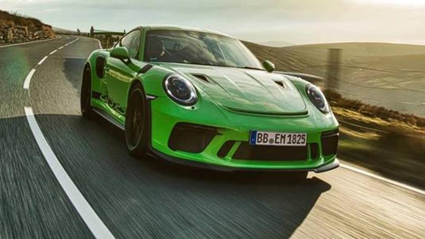 2020年保时捷911 GT3测试车在环赛中抛锚