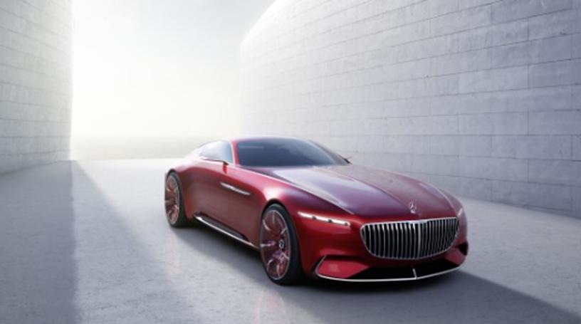 视觉梅赛德斯-迈巴赫6的全长近六米 被设计为电动汽车