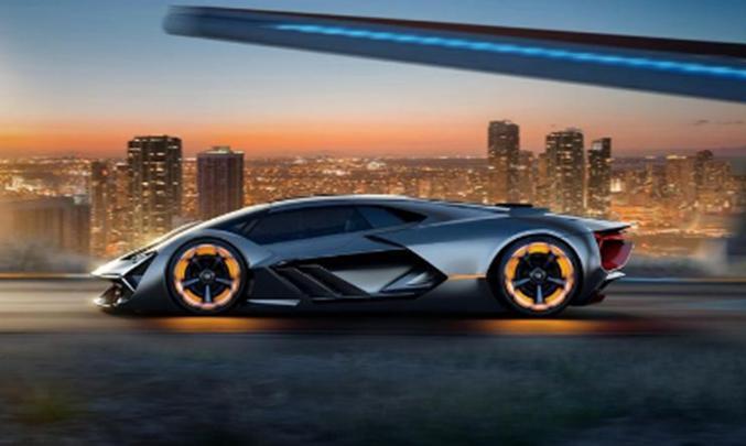 兰博基尼Terzo Millenio Concept揭晓意大利品牌展示电动超级跑车