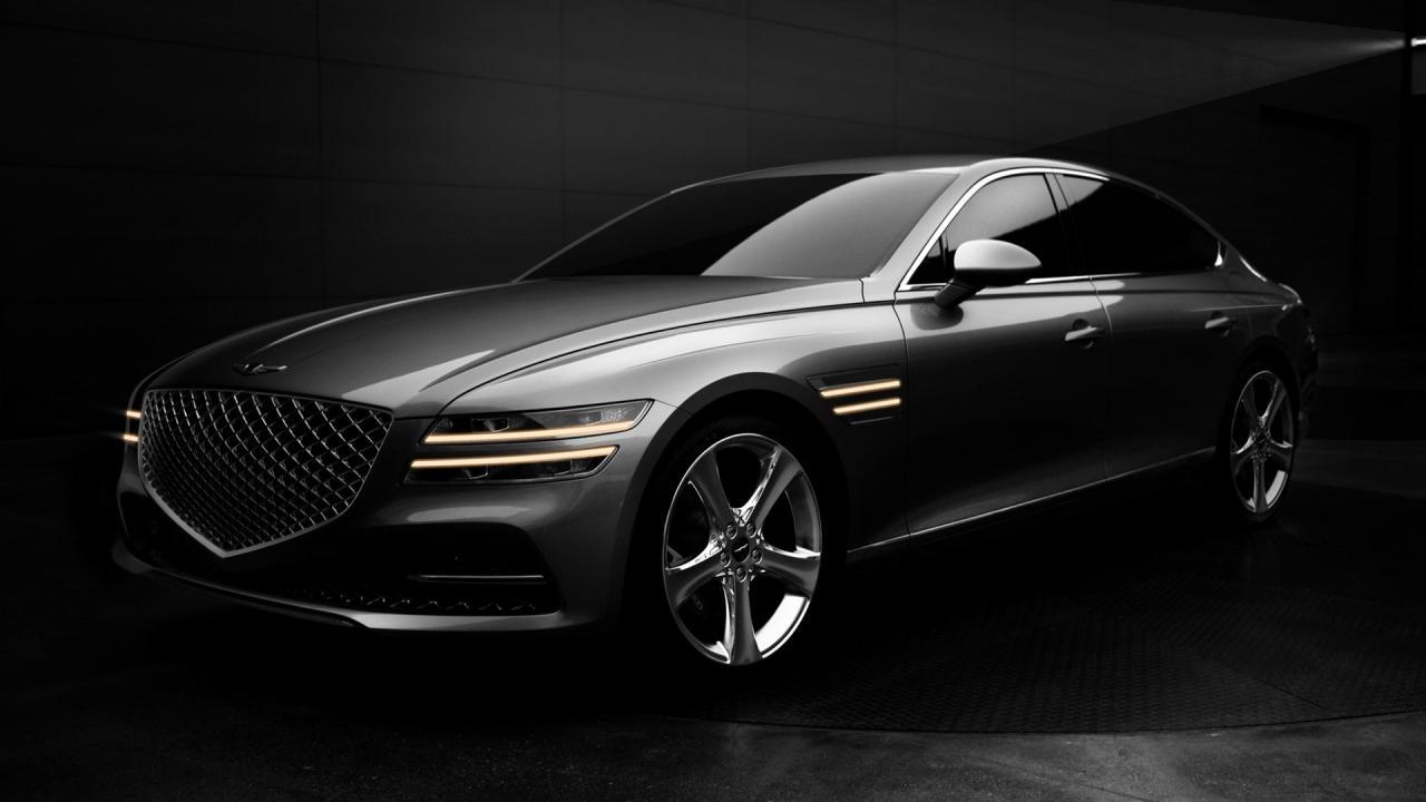 重新设计的2021年Genesis G80豪华轿车外观新颖时尚