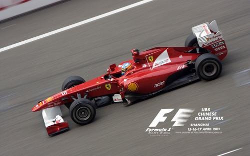 公路法拉利F1赛车在澳大利亚车库中工作