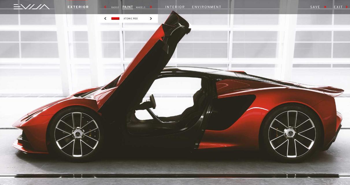 莲花展示了富人如何个性化自己的Evija EV超级跑车