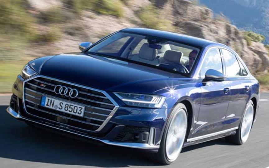 奥迪S8提供571hp和590 lb-ft扭矩的Bi-turbo 4.0L V8