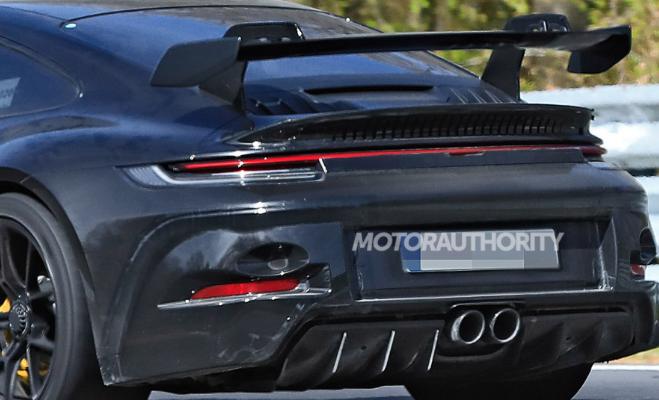 2021年保时捷911 GT3的间谍照片