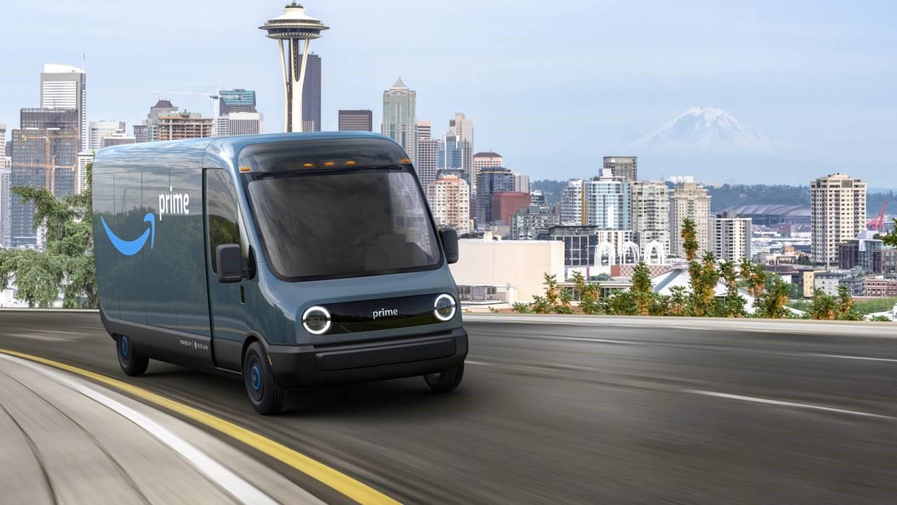 亚马逊并没有等待Rivian建立它的电动车交付车队