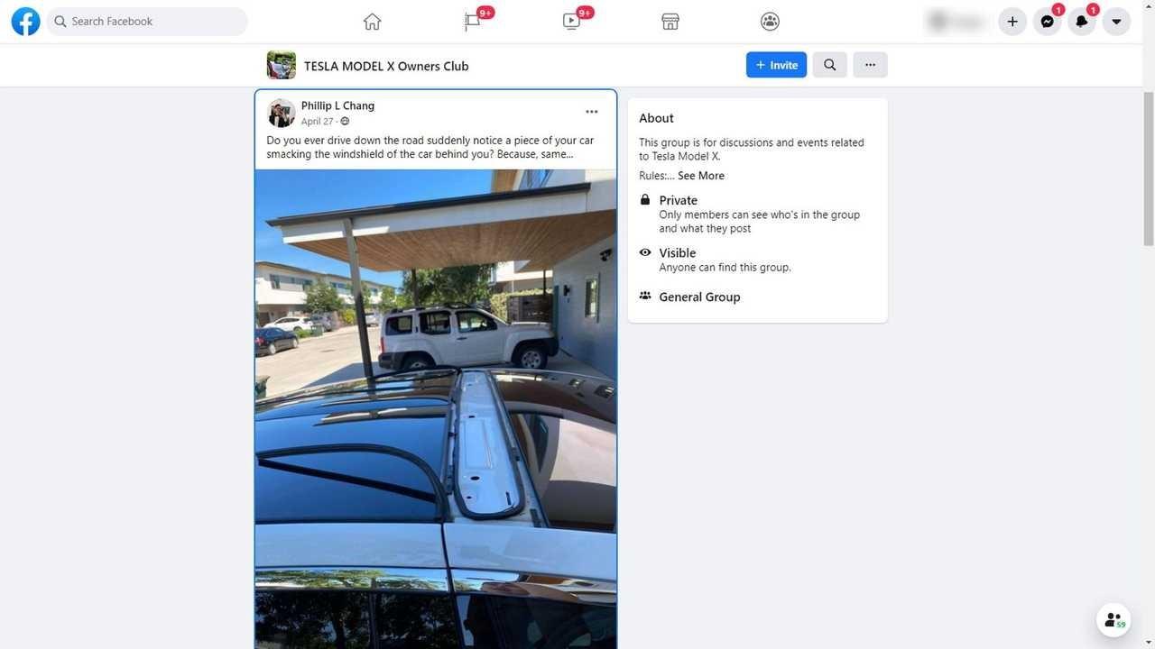 特斯拉Model X在移动过程中会失去车顶