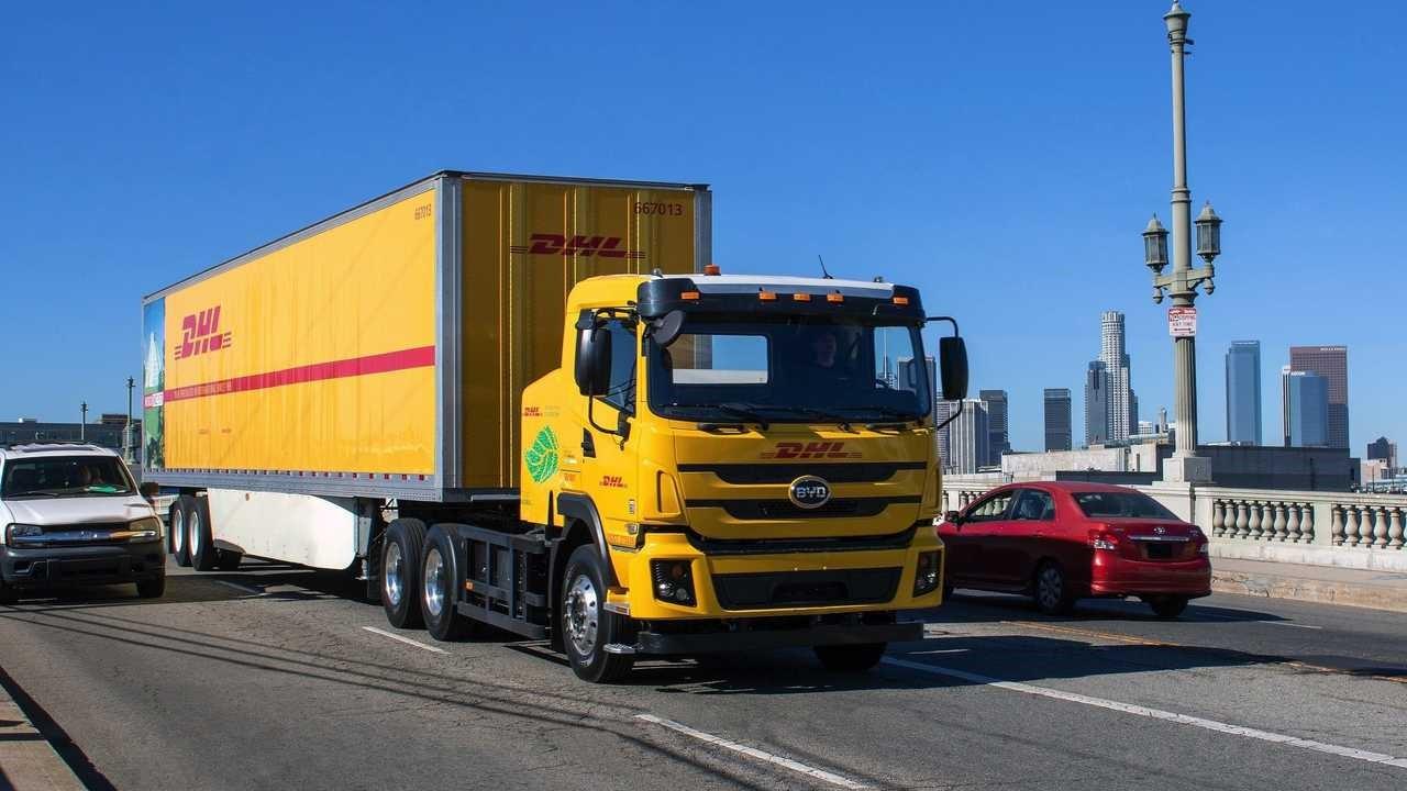 DHL推出比亚迪8级电动卡车