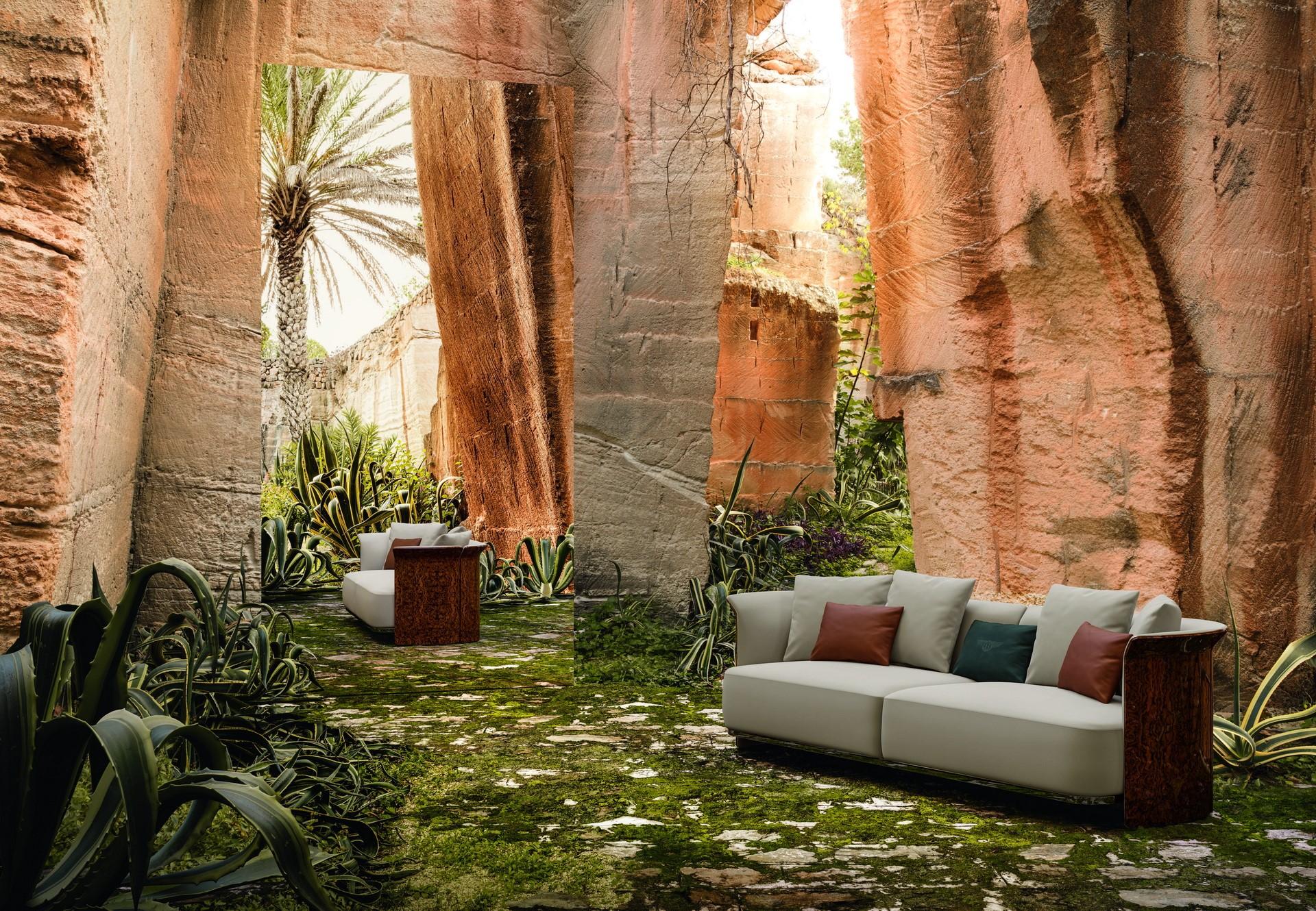 宾利(Bentley)正在出售一种配有大理石靠垫的沙发