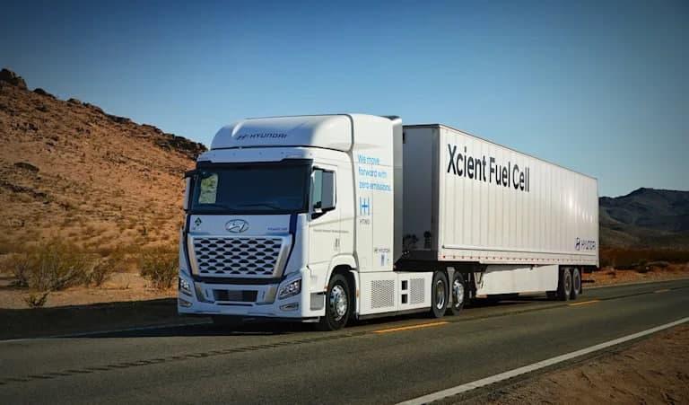 现代 Xcient 燃料电池卡车将改善美国的空气质量