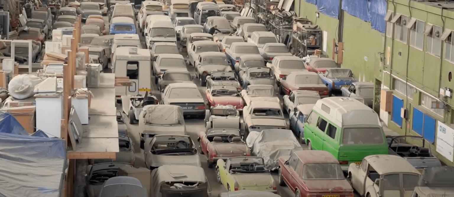 在伦敦发现的 175 辆汽车的巨大谷仓